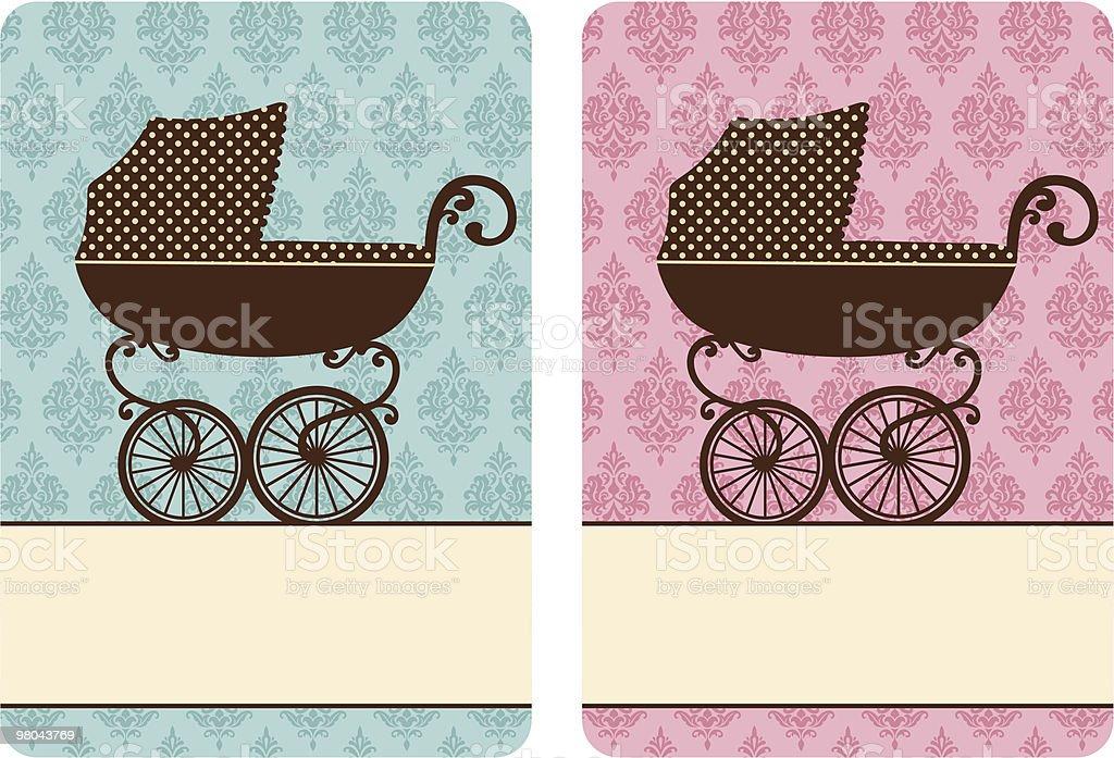 Passeggino passeggino - immagini vettoriali stock e altre immagini di attrezzatura per neonato royalty-free