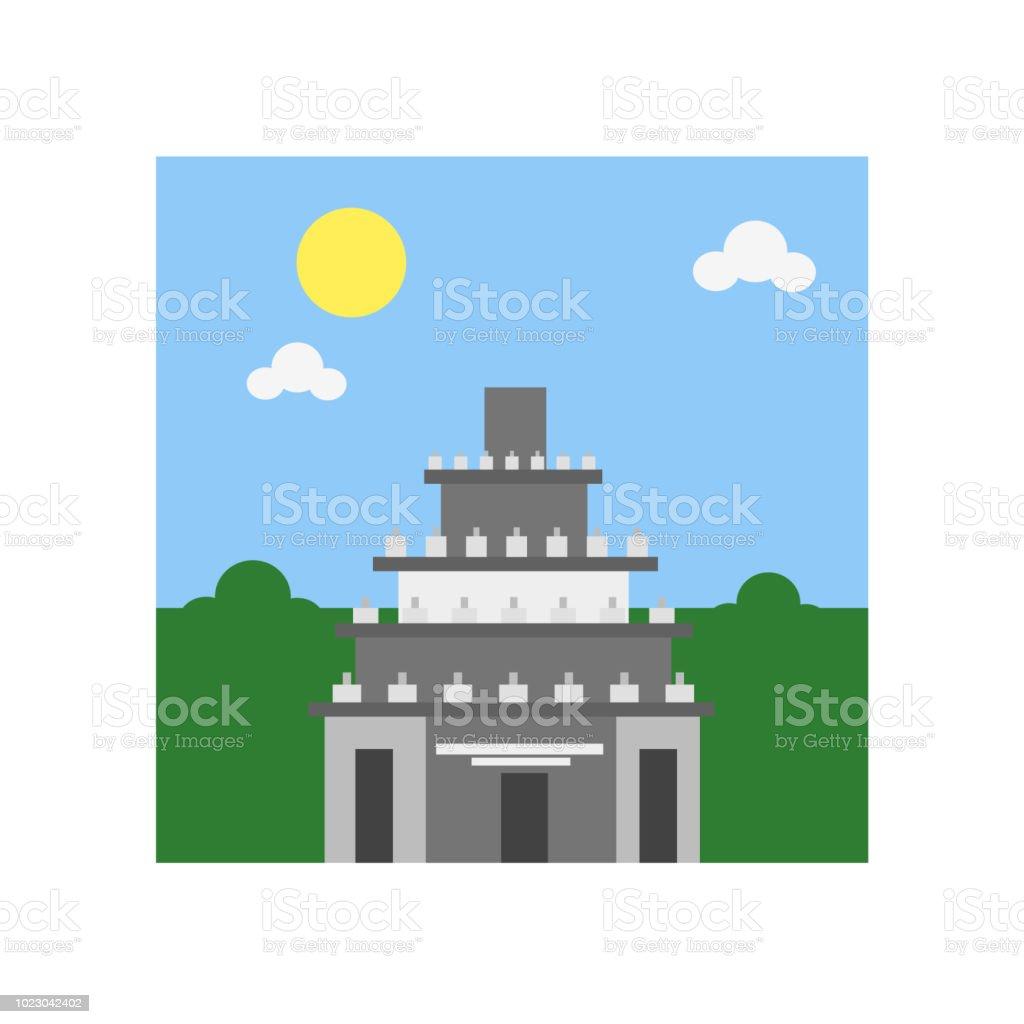 Prambanan icon vector sign and symbol isolated on white background, Prambanan symbol concept vector art illustration