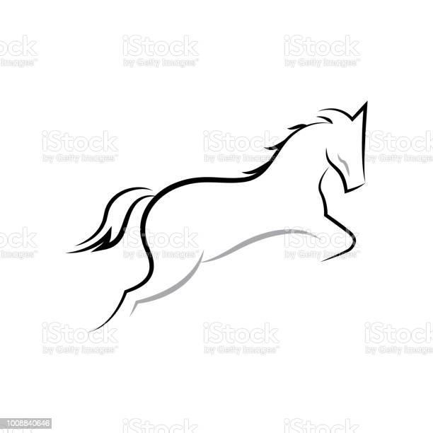 Prancing horse running jumping line art illustration vector id1008840646?b=1&k=6&m=1008840646&s=612x612&h=a8xutyzg2z3qtcwffx2dgkyijq2s vtzgfjctk1k71e=