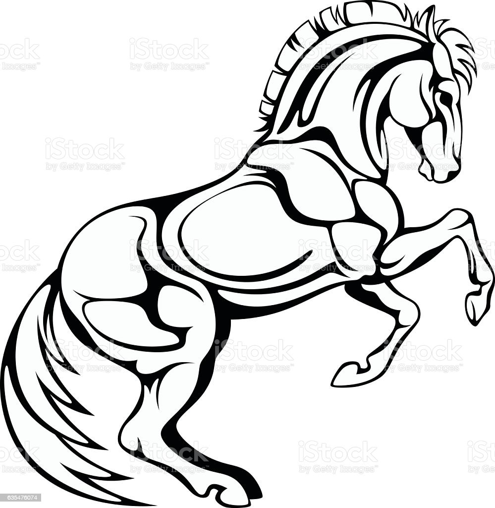 Prancing Horse Royalty Free Stock Vector Art Amp More Images Of Animal