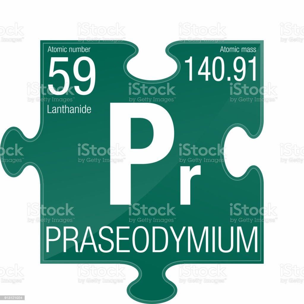 Ilustracin de smbolo del praseodimio elemento nmero 59 de la elemento nmero 59 de la tabla peridica de los elementos qumica urtaz Choice Image