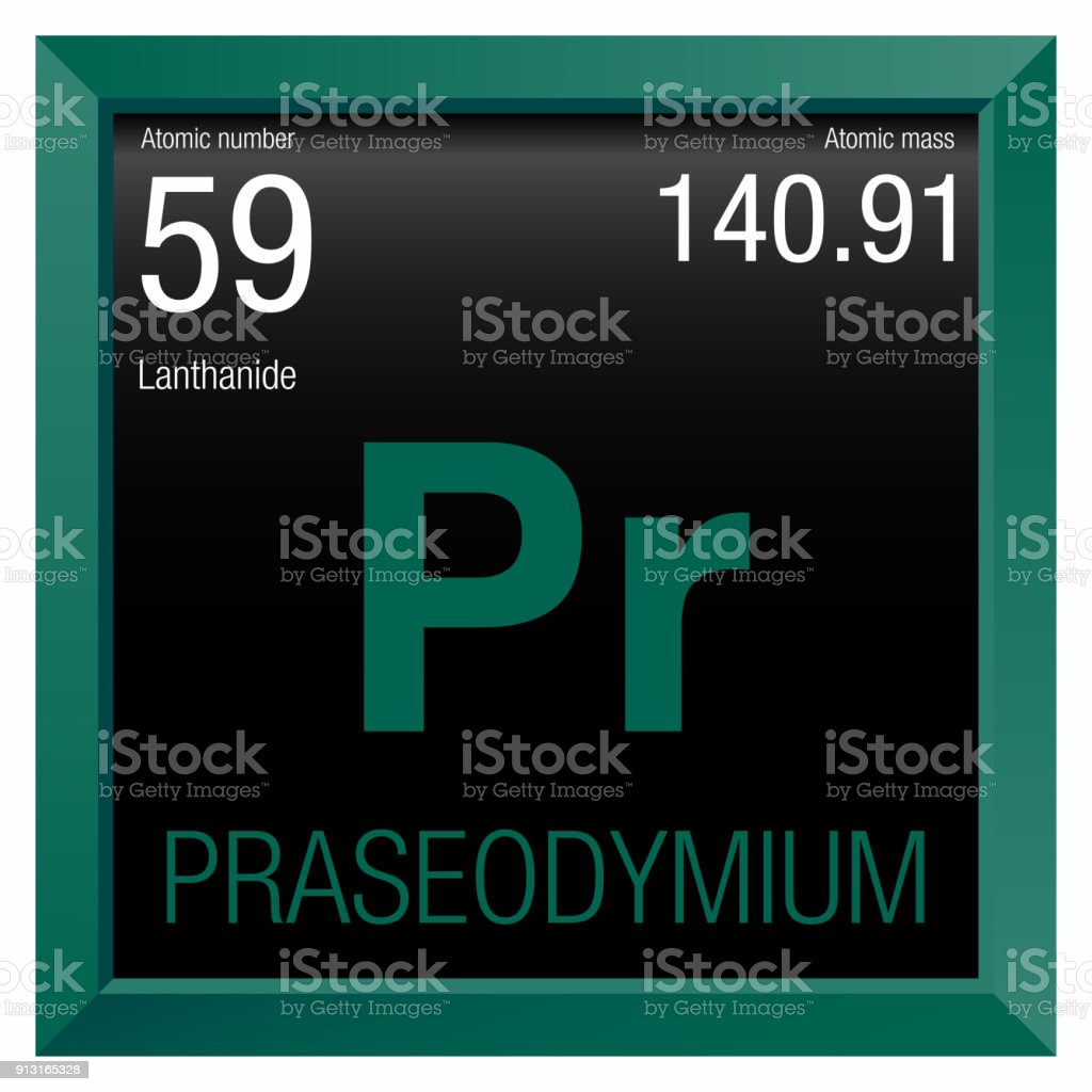 Praseodymium Symbol Element Number 59 Of The Periodic Table Of The