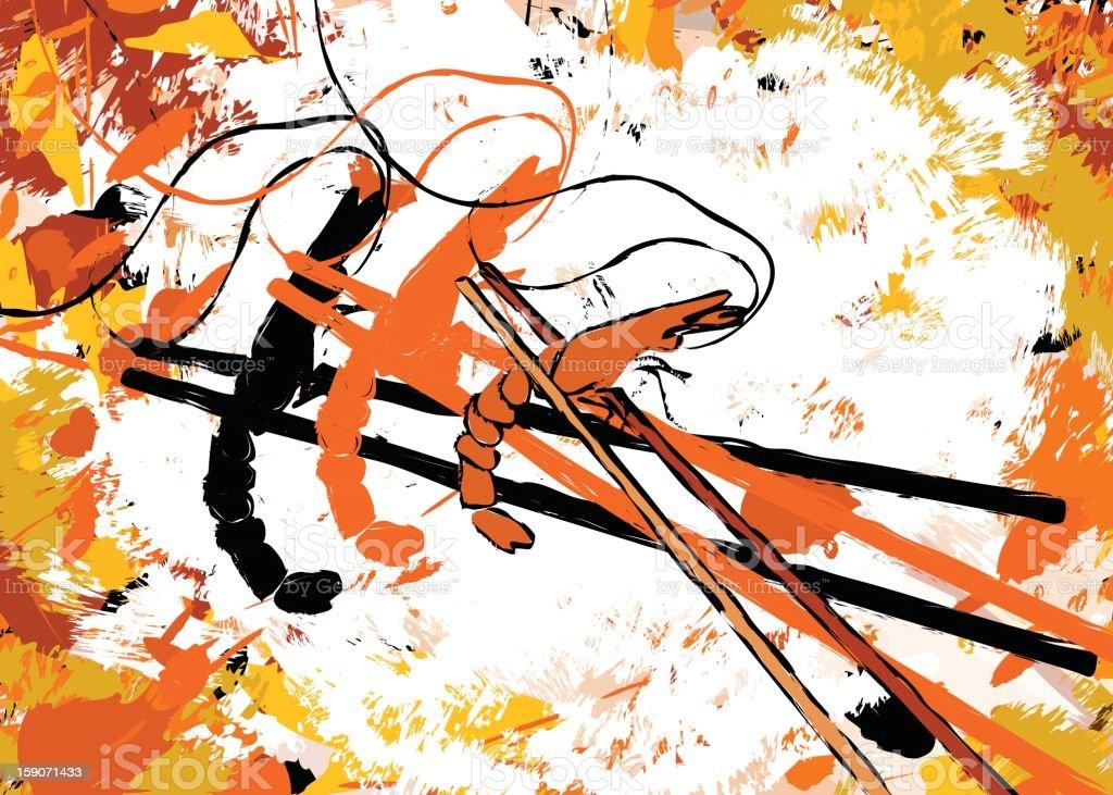 Prawn Tempura royalty-free stock vector art