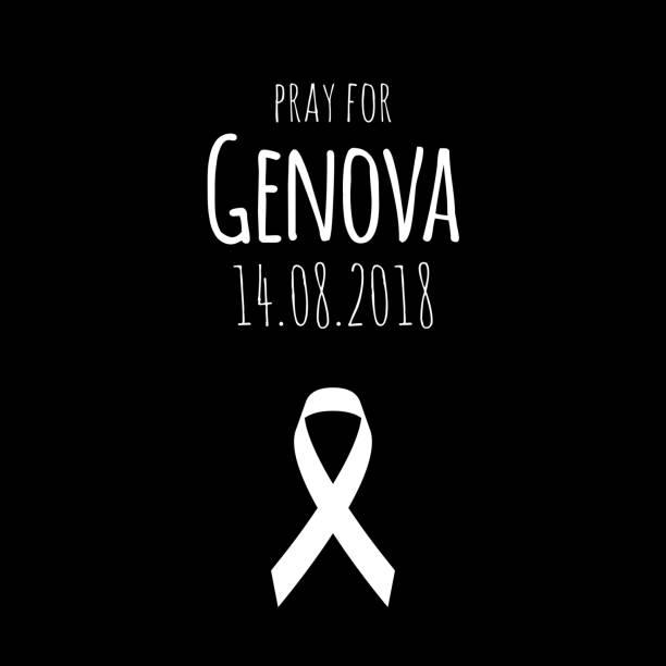 illustrations, cliparts, dessins animés et icônes de 14.08.2018 - priez pour gênes. pont s'est effondré dans la ville italienne. - pont gênes