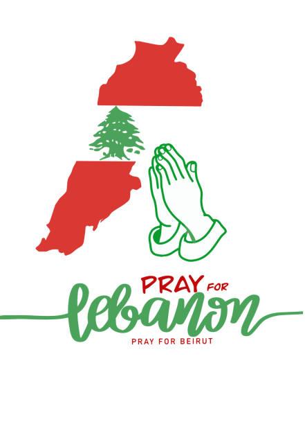 為黎巴嫩祈禱,為貝魯特祈禱,貝魯特爆炸,vector插圖。 - beirut explosion 幅插畫檔、美工圖案、卡通及圖標