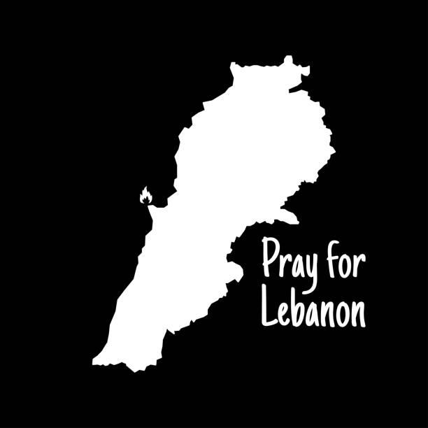 為黎巴嫩祈禱。為貝魯特祈禱。黎巴嫩地圖。貝魯特發生大規模爆炸。向量插圖。 - beirut explosion 幅插畫檔、美工圖案、卡通及圖標