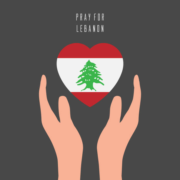 祈禱黎巴嫩向量設計與地圖,祈禱貝魯特向量插圖。為人類設計, 和平, 捐贈, 慈善。 - beirut explosion 幅插畫檔、美工圖案、卡通及圖標