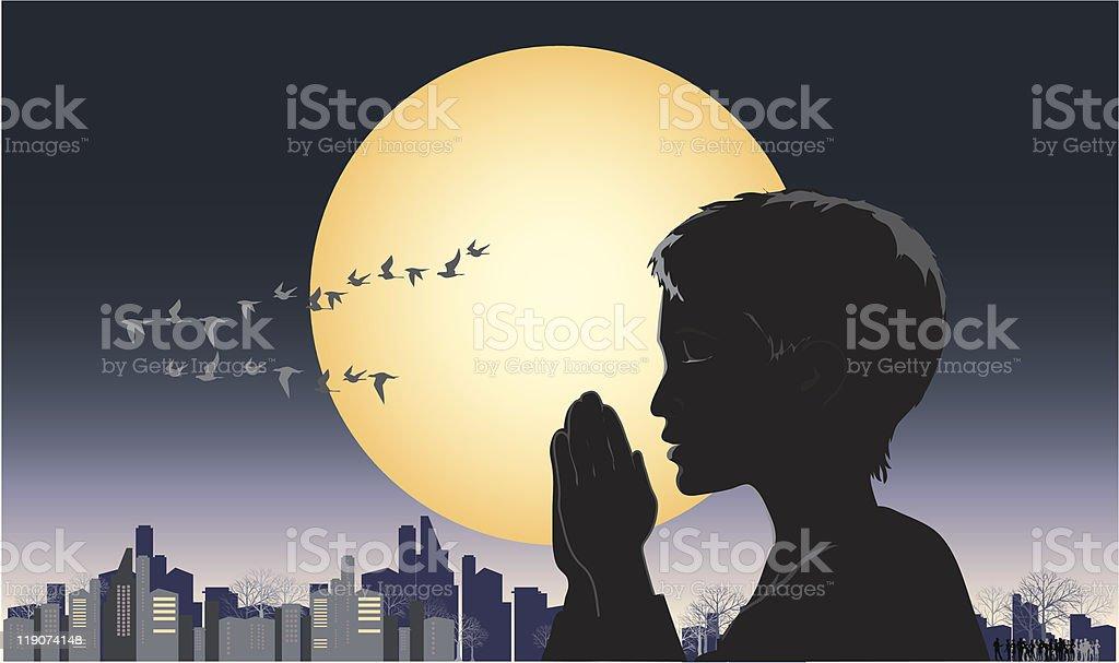 Pray royalty-free stock vector art