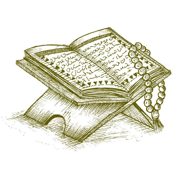 ilustrações de stock, clip art, desenhos animados e ícones de prayer beads and the qur'an - cora��o