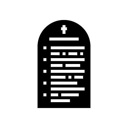 prayer christianity glyph icon vector illustration