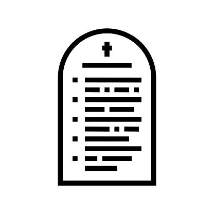 prayer christianity line icon vector illustration