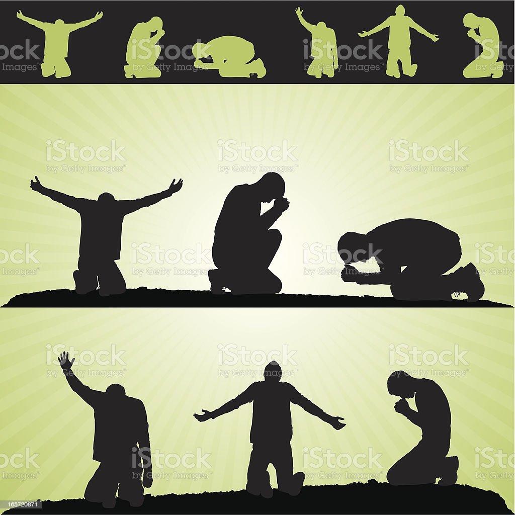 Prayer Design Elements royalty-free stock vector art