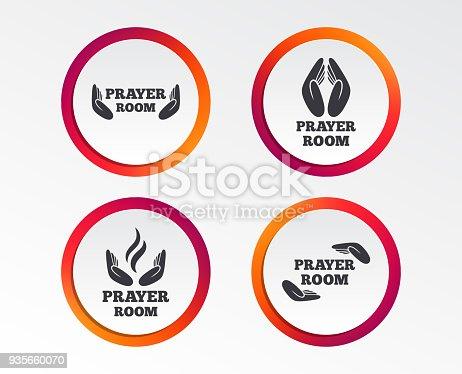 Prayer Room Icons Religion Priest Symbols Stock Vector Art More