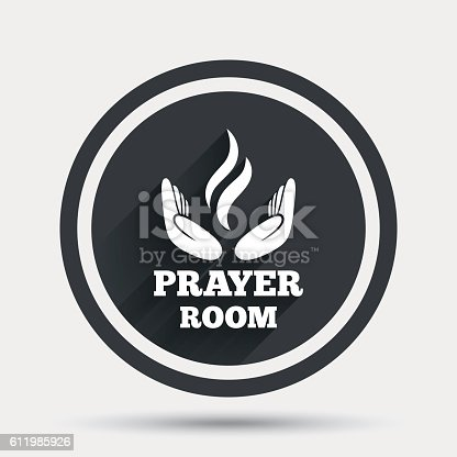 Prayer Room Sign Icon Religion Priest Symbol Stock Vector Art More