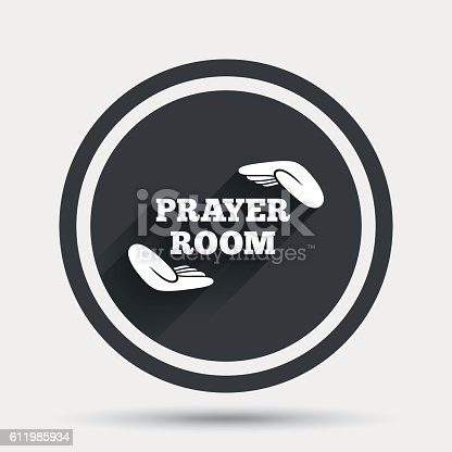 Prayer Room Sign Icon Religion Priest Symbol Stock Vector Art