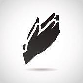 Prayer vector icon.