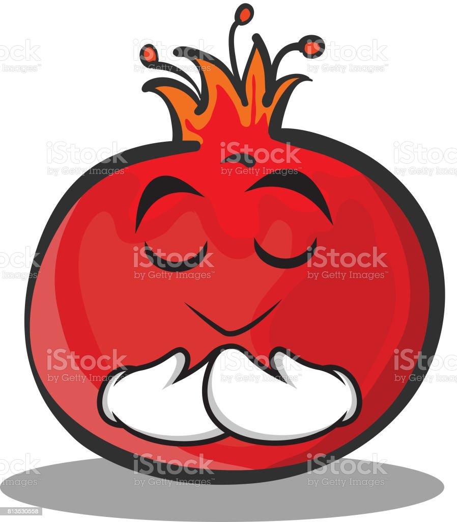 prier le visage grenade cartoon personnage style art vectoriel rh istockphoto com