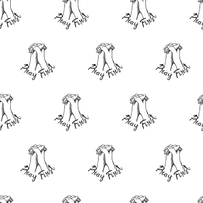 Praying First Vector Graphic Illustration Seamless Pattern