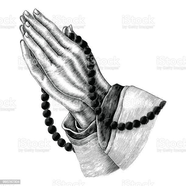 Praying hand drawing vintage clip art isolated on white background vector id995282304?b=1&k=6&m=995282304&s=612x612&h=q2p  8eybutqzapkmuyzkr53sduw8xjddmv0t3ss7m0=