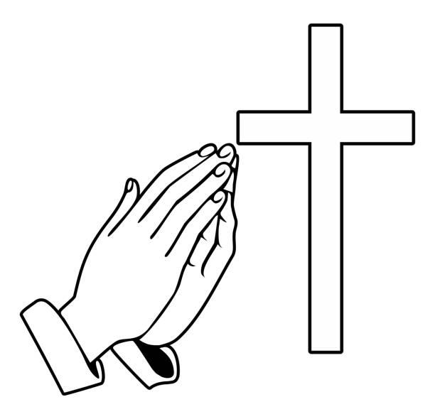 手和東正教十字架祈禱 - prayer 幅插畫檔、美工圖案、卡通及圖標