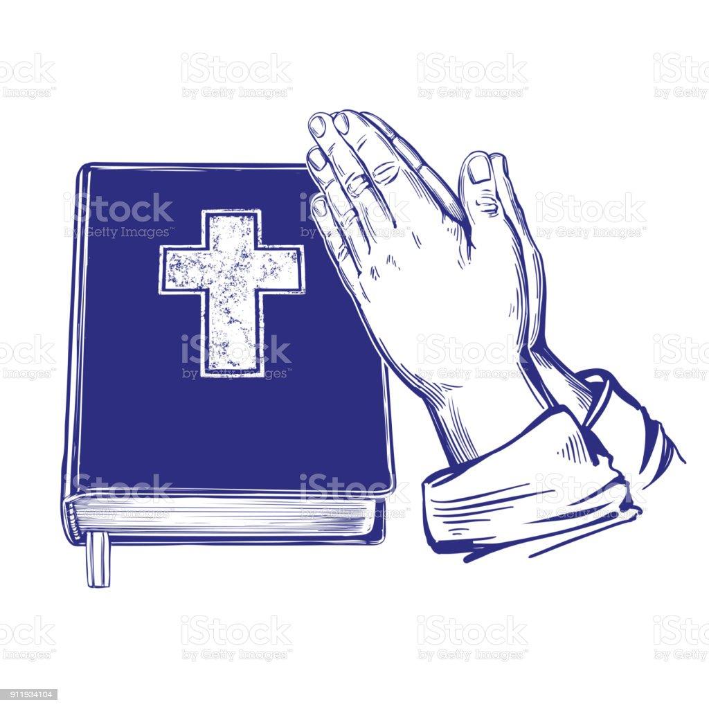 Praying Hands Bible Gospel The Doctrine Of Christianity Symbol Of