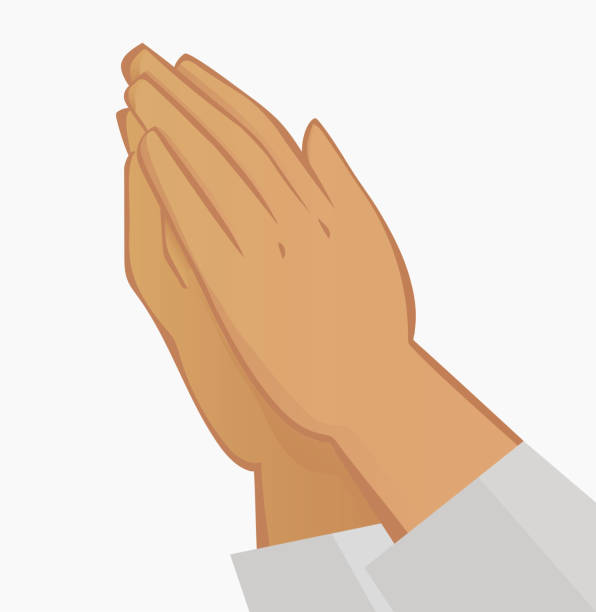 祈禱的手。白色背景插圖 - prayer 幅插畫檔、美工圖案、卡通及圖標