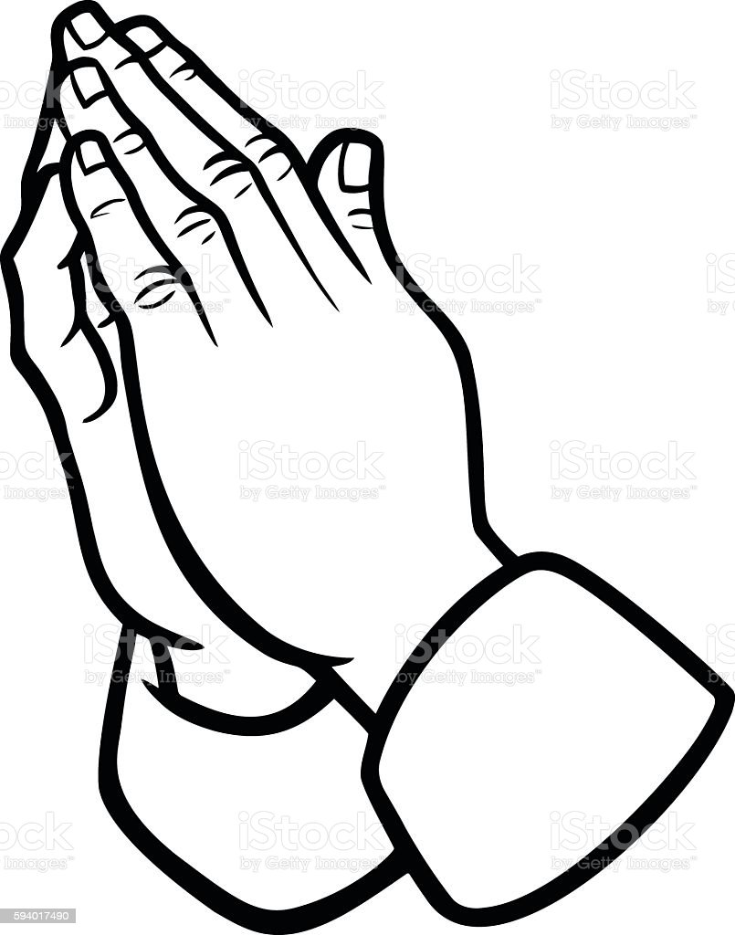 Praying Hands Illustration vector art illustration