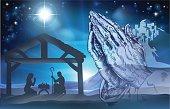 Praying Hands Nativity Scene