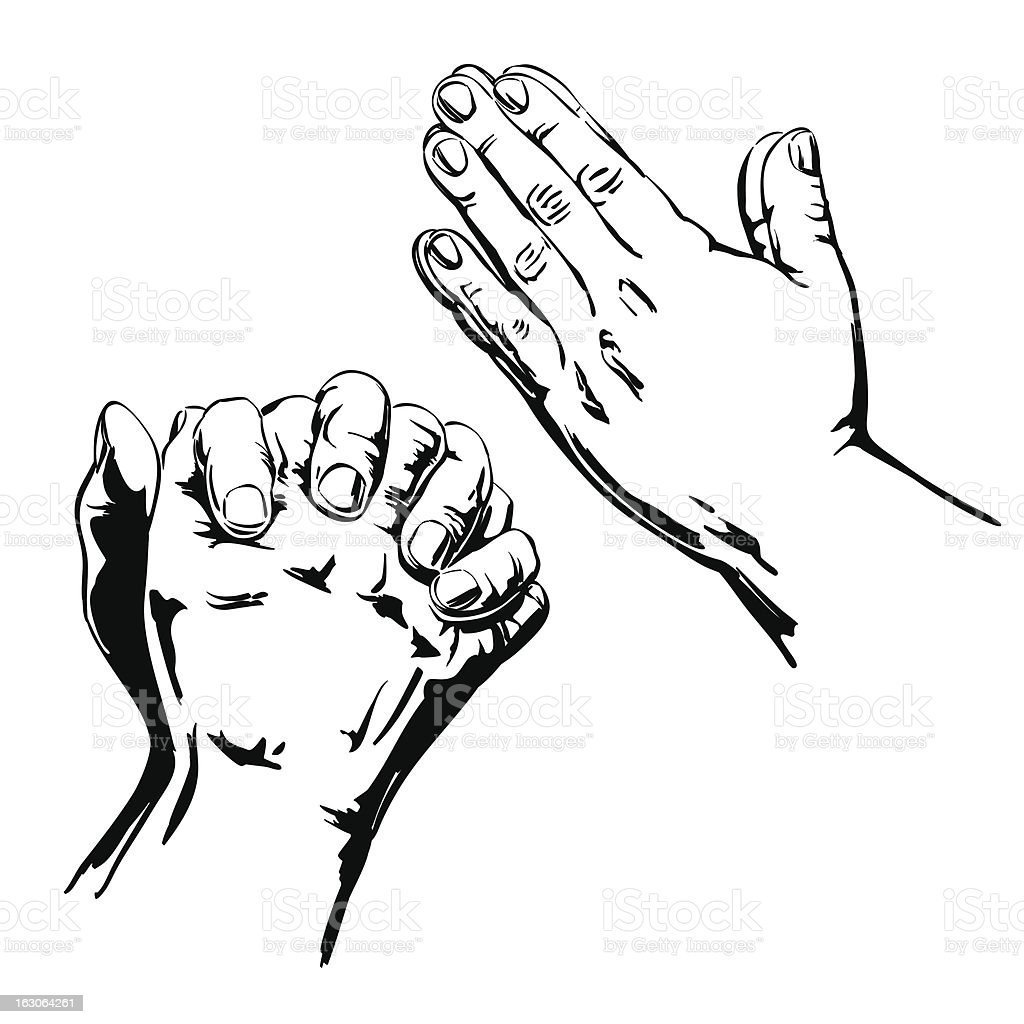 Praying Hands royalty-free praying hands stock vector art & more images of adult
