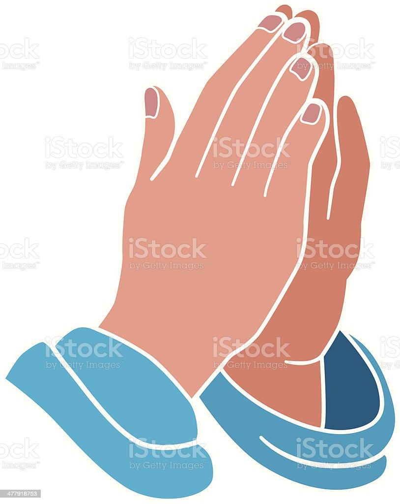 royalty free praying hands clip art vector images illustrations rh istockphoto com praying hands clipart for funeral praying hands clip art with bible