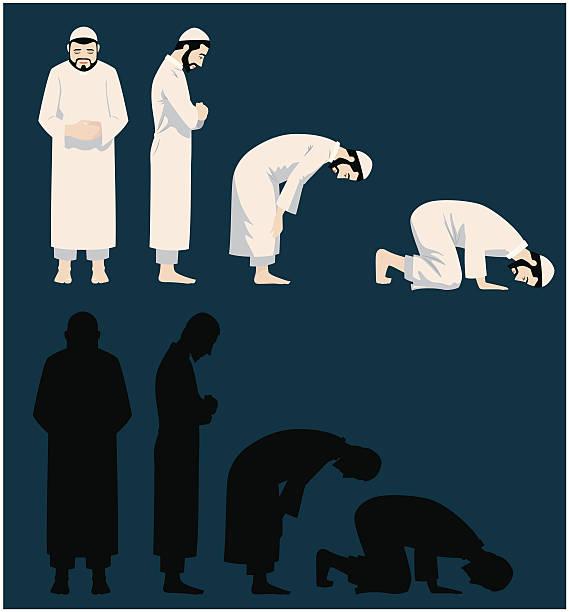 praying movements of a muslim man - 伊斯蘭教 幅插畫檔、美工圖案、卡通及圖標