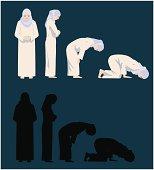 Praying Movements of A Muslim Woman