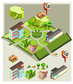 pre assembly isometric map-soccer indoor field