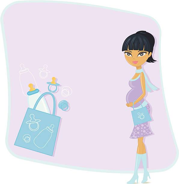 ilustraciones, imágenes clip art, dibujos animados e iconos de stock de maman compras anteriores - cabello negro