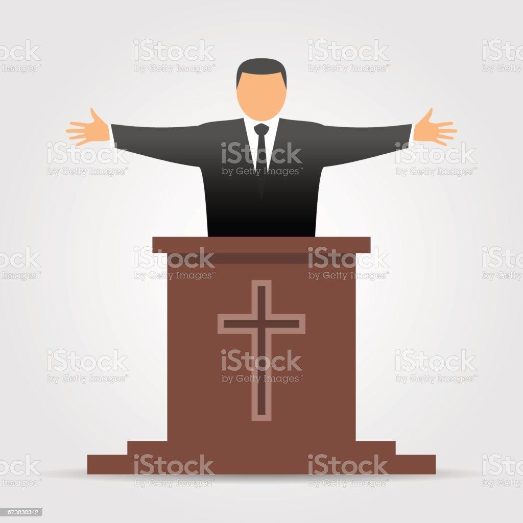 Preacher icon vector art illustration