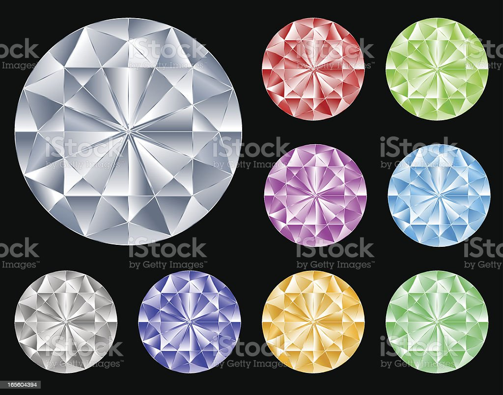 Precious gems royalty-free stock vector art