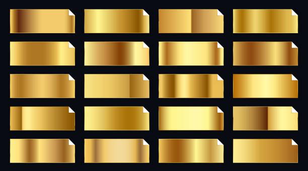 kostbares Gold Gold Gradienten große Premium-Set – Vektorgrafik