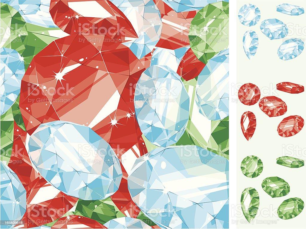 precious stones seamless pattern royalty-free stock vector art