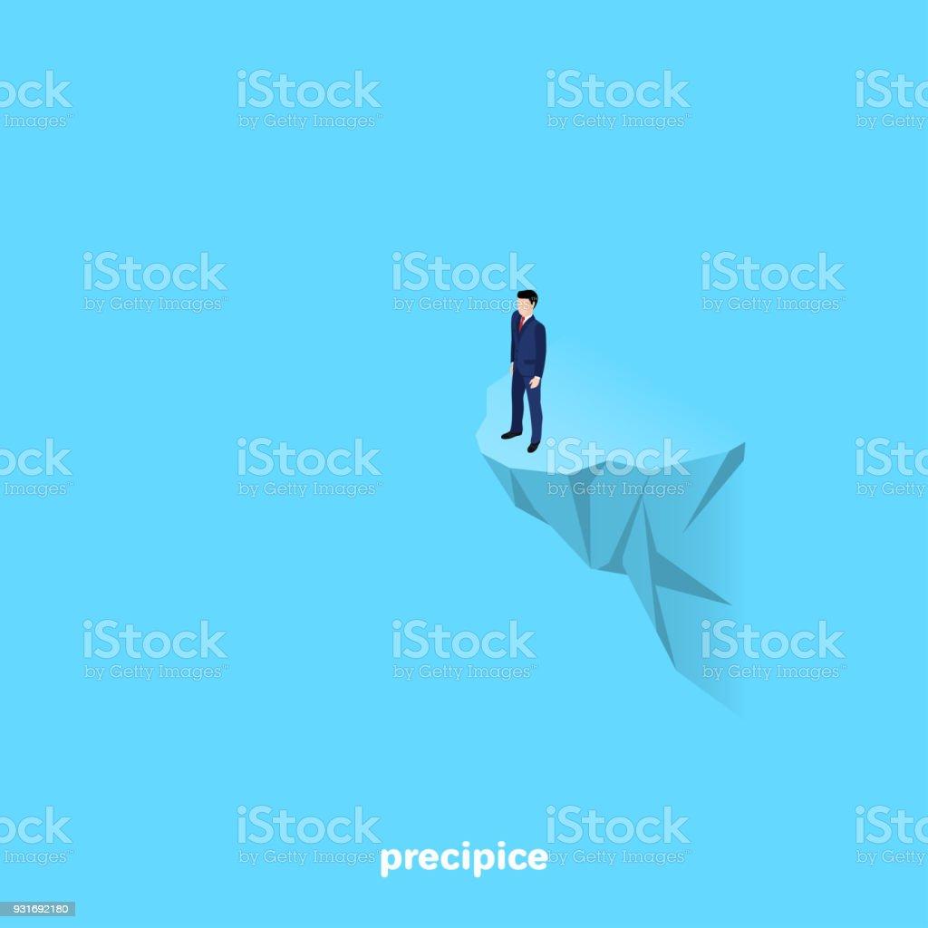 precipice vector art illustration
