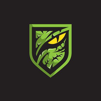 Predator or Raptor eye insignia vector