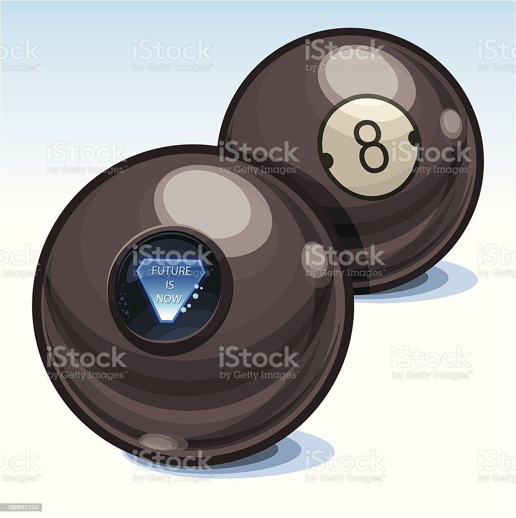 Predicting 8-Ball vector art illustration