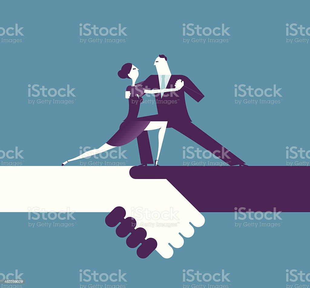 Prefect cooperation vector art illustration