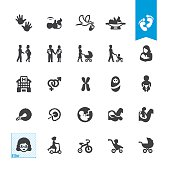 Pregnancy and Babies related icons BASE pack #47