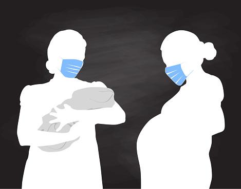Pregnancy And Newborn Pandemic Covid Chalkboard