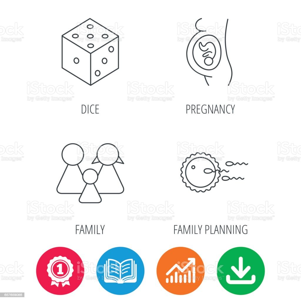 Pregnancy Family And Family Planning Icons Stock Vector Art More