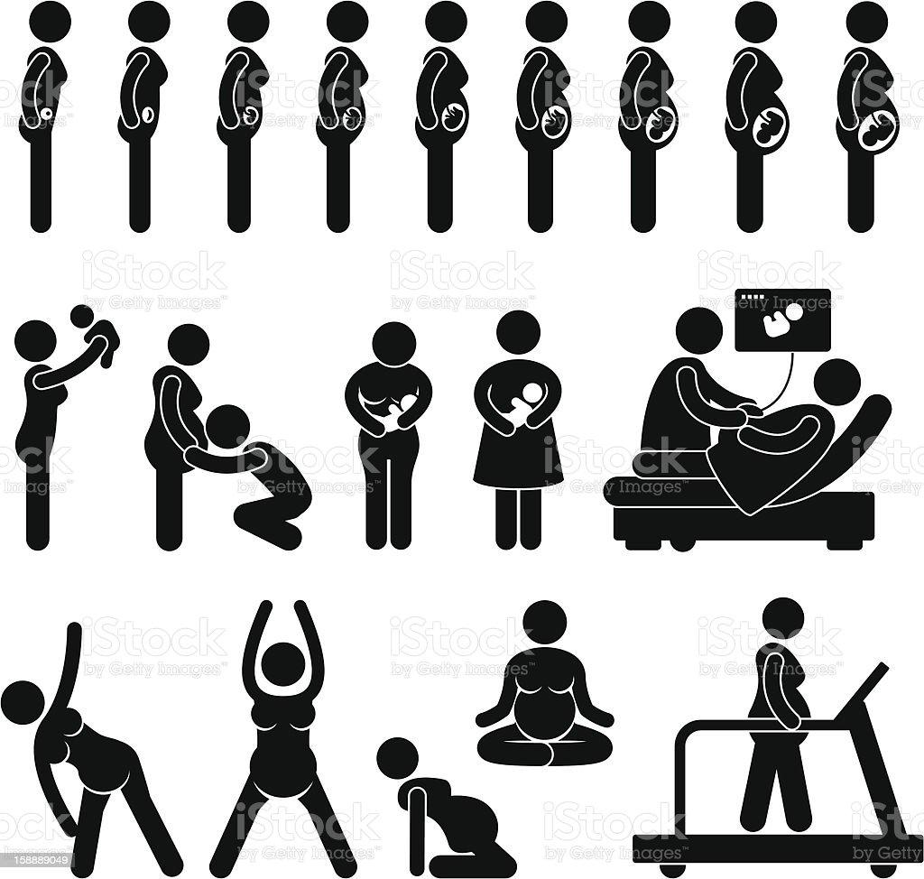 adbd89441 Etapa Pictograma de embarazo ilustración de etapa pictograma de embarazo y  más vectores libres de derechos