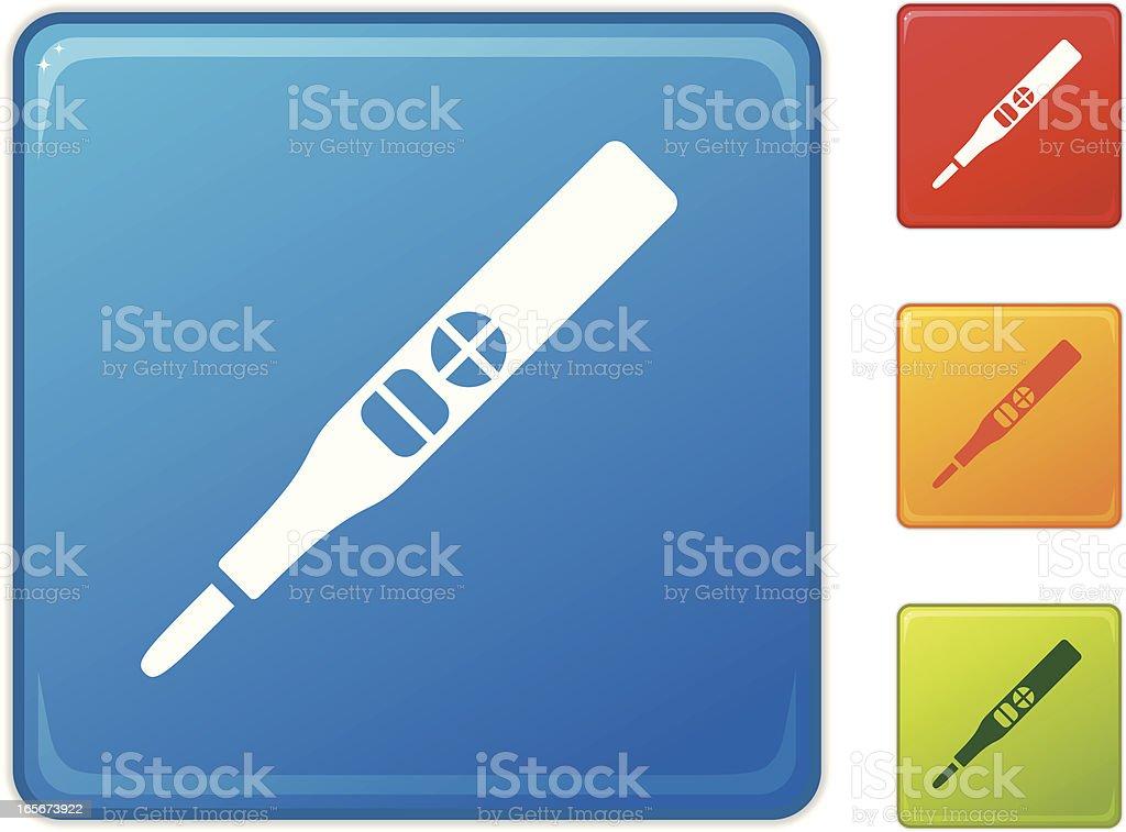 Icono de una prueba de embarazo. - ilustración de arte vectorial