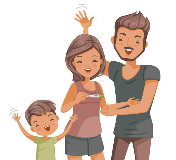 ilustraciones, imágenes clip art, dibujos animados e iconos de stock de prueba de embarazo - planificación familiar