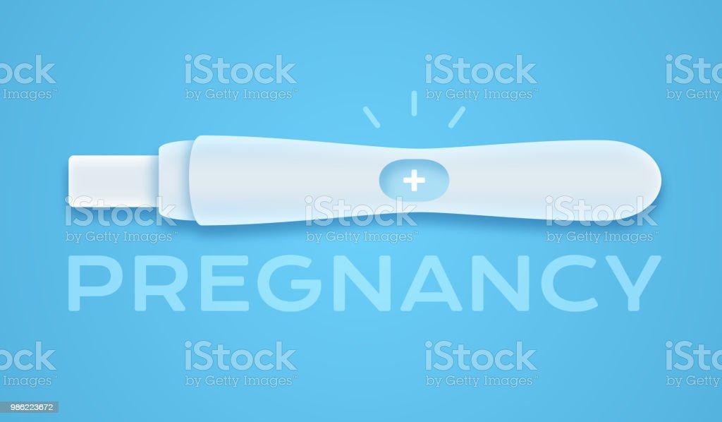 Prueba de embarazo - ilustración de arte vectorial
