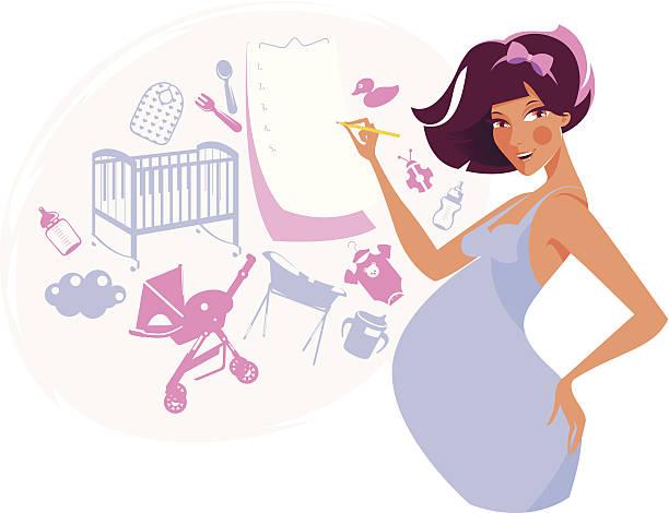 Kobieta w ciąży. – artystyczna grafika wektorowa